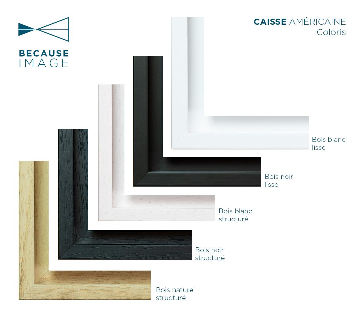 Coloris caisse américaine because image